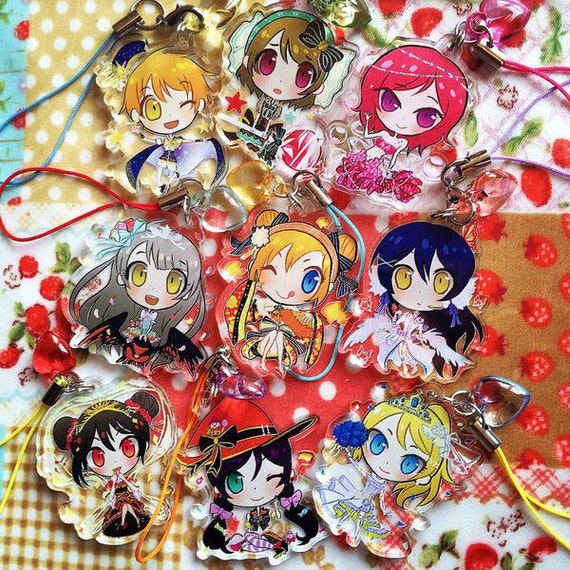 on sale live sif urs clear acrylic charms