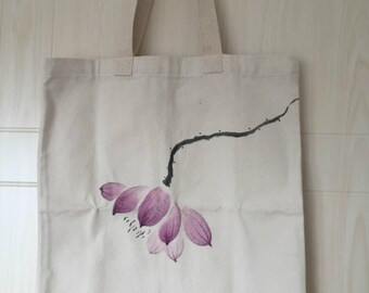 Chinese style 100%Canvas Long Handles Bags