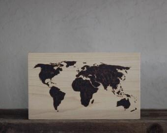 Wood Burned Map