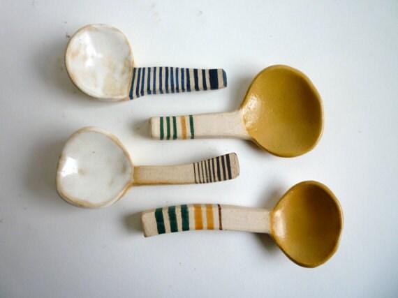Striped Demitasse Spoons