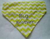 BIG BROTHER -Dog Bandana - Over the Collar-Scarf- Summer-Baby Announcement
