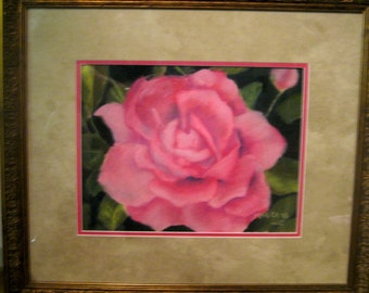 Rosey - Framed Pastel Painting