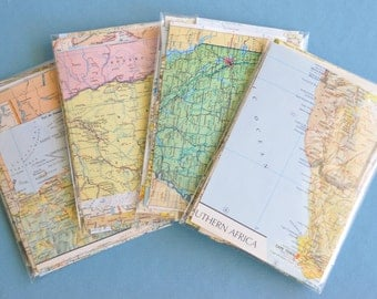 Travel Theme Wedding DIY Decorations Map Paper Scrap Pack 50+ pieces Scrapbook Paper