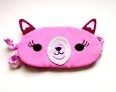 Sleep Eye Mask - The Alpaca (Pink)