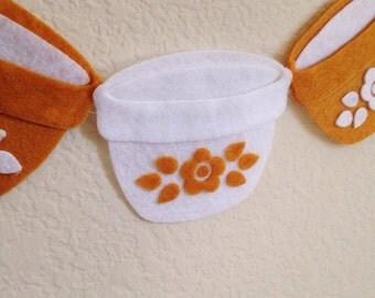 Pyrex Inspired // Butterfly Gold // Felt Banner