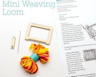 Mini Weaving Loom Kit, Make Your Own, Ornament or Brooch