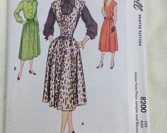 McCall 8200 Blouse Skirt Jumper Pattern