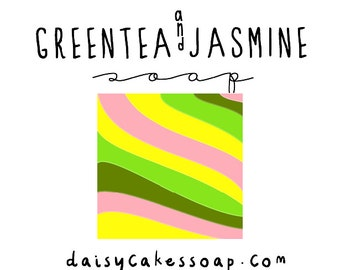 Green Tea and Jasmine, Luxurious Hand and Body Soap