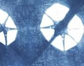 Shibori Flour Sack Dishcloth / Towel-Large-Hand Dyed Indigo