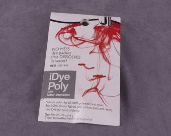 Jacquard iDye Poly Synthetic Fabric Dye - Red (JAC1449)