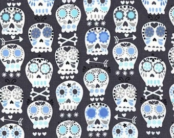 Bonehead in Charcoal - Michael Miller cotton quilt fabric - fat quarter