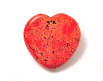 Red sea sediment Jasper heart  45mm