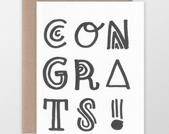 Congrats! Funky Type Card