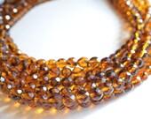 The Rebecca- Tortoise Czech Glass Statement Necklace
