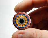 Glass Eyes - Kaleidoscope Eye Human Doll Taxidermy Eyes Handmade Glass Cabochons Design 3 - Pair or Single - You Choose Size