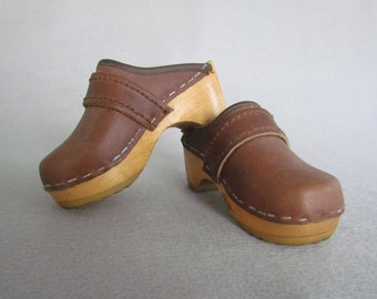 Vintage Ugglebo Tofflen Childs Clogs size 8