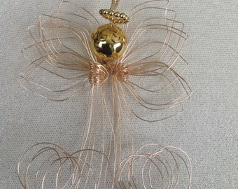 Wire Angel Ornament Hand Formed with Gift Pouch
