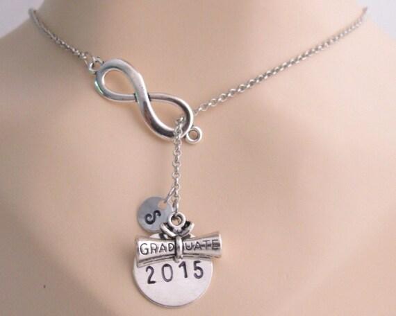 Graduation Necklace Diploma Necklace, Graduation gift, 2017 Class Graduate Graduation jewelry, , initial necklace Free Shipping USA