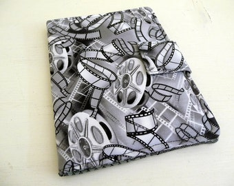 Kindle Touch Cover, Paperwhite Case, Black and White Movie Film
