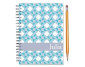 Custom 2016 Planner, Quilter Present, Personalized 2016 Calendar, Quilt Pattern, schedule planner, weekly planner, SKU: pl aqua quilt
