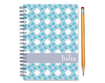 2016 2017 Planner, Quilter Present, Personalized 2017 Calendar, Quilt Pattern, schedule planner, weekly planner, SKU: pli aqua quilt