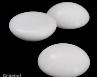 15mm Chalk White Round Cabochon (2 Pcs) #3548
