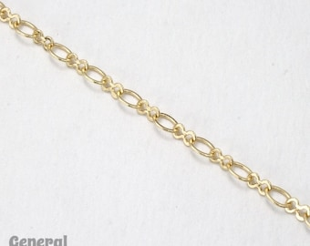 5.4mm x 4.4mm and 5.2mm x 3mm Gold Figure 8 Chain #CCA236
