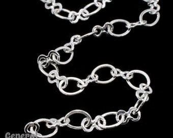 5.4mm x 4.4mm and 5.2mm x 3mm Silver Figure 8 Chain #CCB236