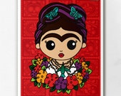 Frida with Humming Bird Necklace