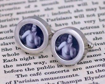 Erotic 1920's Flapper Ladies Breasts cufflinks (151)