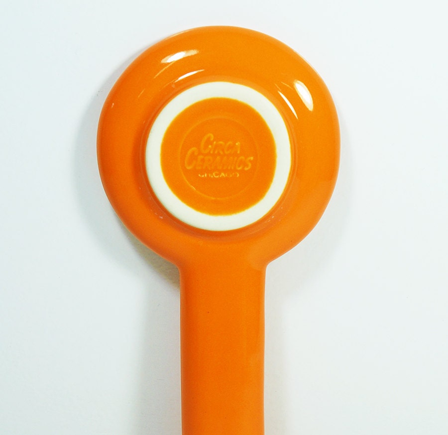 spoon rest featuring a very Happy Popcorn.  Made to Order/Pick Your Colour