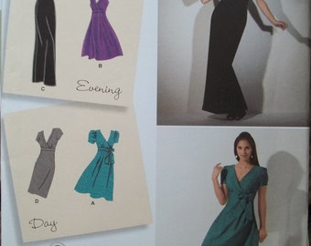 Simplicity Pattern 2549 Designer Inspirations DRESS Two Lengths Skirt Variations Size H5 US 6-14 Eur 32-40 Fr. 34-42