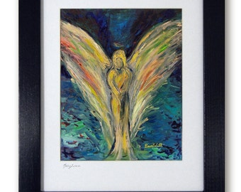 Angel Artwork - Mat print 11x14 Inner Reflection Vision of Angels by artist BenWill