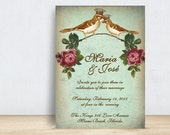 Love Birds Wedding Invitation  Template  Wedding Invitation Printable  Wedding Invitation Suite  Vintage Wedding Invitation  No 33