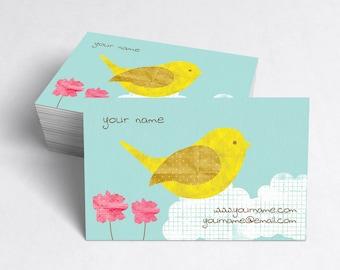 Business Cards  Custom Business Cards  Personalized Business Cards  Business Card Template  Modern Business Cards  Bird Business Card B5