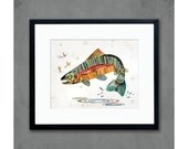 Jumping Rainbow Trout Art Print