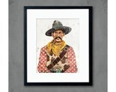 American Heritage Cowboy Art Print