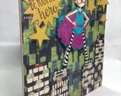 Be Your Own Hero handmade blank card