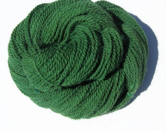 Green Alpaca and Wool Yarn for Knitting, Crochet, Felting, and Weaving - Hand dyed, Farm Grown, DK Weight - 250 yards / 3 ounces