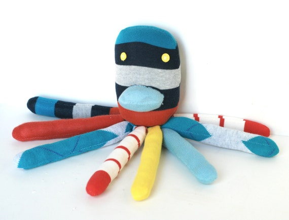 Kids Baby Plush Octopus Deluxe Socktopus Stuffed Animal Toy