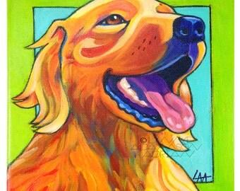 Golden Retriever Print - Colorful Pet Portrait
