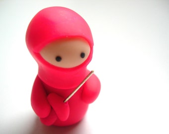 Little Hot Pink Ninja Companion