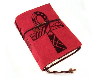 Ankh, Ancient Egypt Journal, Leather, Handmade