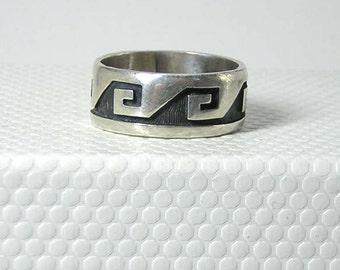 Hopi Sterling Silver Ring size 7.5 SALE