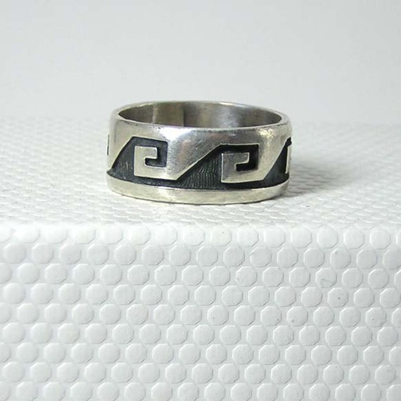 hopi sterling silver ring size 7 5 sale by 925studio on etsy