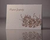 Letterpress Foliage Sympathy Card
