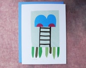 Abstract Collage Card - Ladder