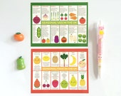 UK Seasonal Fruit & Vegetables - Kawaii Fridge Magnets
