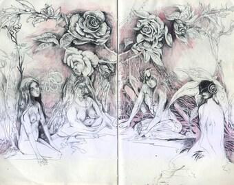 Bower // Faerie / Fantasy Art Print