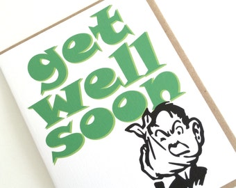 Get Well Soon Card. Feel Better Card. Everday Card. Made in the Midwest.